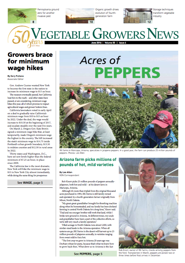 Vegetable Growers News - June 2016