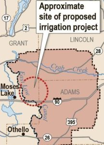 Approximate Location of the North I-90 Odessa Aquifer Groundwater Replacement Project / EL 22.1 Pipeline Project